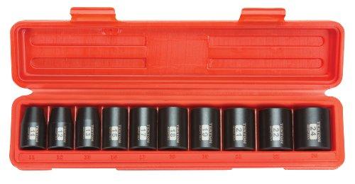 TEKTON 4810 Juego de llaves de vaso de impacto poco profundas de 1/2 pulgada, Cr-V, 6 puntos, 7/16…
