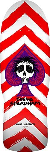 """Powell Peralta Unisex-Erwachsene Steadham Spade Red/White Stain Skateboard-Deck, rot/weiß, 10"""" W x 30.125"""" L"""