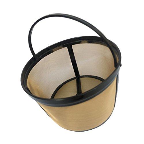 Fenteer Kaffeefilter/Kaffeesieb aus Stoff | Permanentfilter ohne Papier als Handfilter für Kaffeepulver | Dauerfilter BZW. Kaffeefilteraufsatz - #6, 123mm