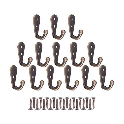 Coat Hooks 14 Stück Schlüsselhaken, Tassenhaken, kleine Haken mit Schrauben, Schlüsselhaken an der Wand montiert, Für Küchenhaken, Handtuch, Bademantel, Hut, Kleiderhaken (Mini Größe)
