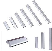 Angela-homestyle Aluminium DIY meubelgrepen meubelknop meubelgreep kastgreep ladegreep keukengreep handgrepen (zilver, 64mm)