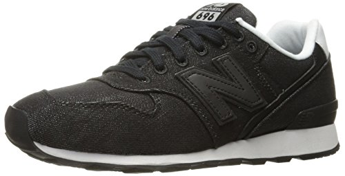 New Balance Women's 696 V1 Sneaker, Black, 9.5 B US