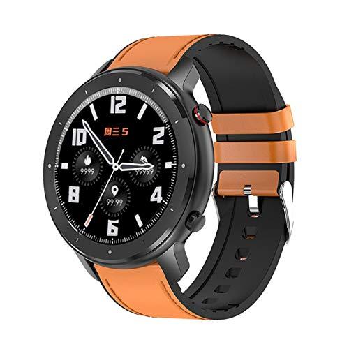 QKA Reloj Inteligente, Pantalla Redonda Táctil Completa, Reproductor De Música, Presión Arterial E Impermeable, Llamada BT, Deportes De Mujer Smartwatch, para Android iOS,B