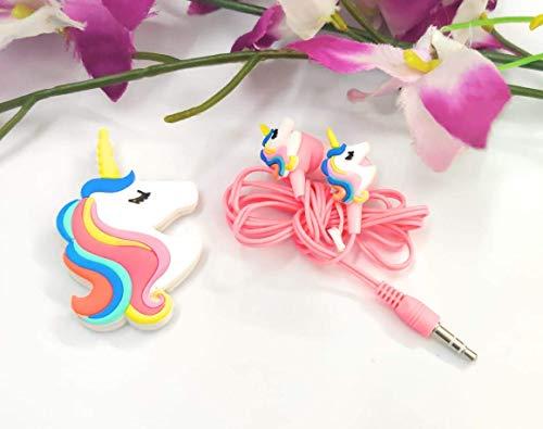 Tera13 Funny Unicorn Cartoon Wired Earphones/ Gamer Music Stereo Earbuds Outdoor Sport Running Headphones Kids Children Toddler Girl Birthday Return Gift (Pack of 1)