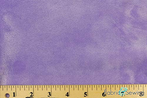 Lilac Lavender Purple Minky Smooth Soft Solid Plush Faux Fake Fur Fabric Polyester 14 oz 58-60'