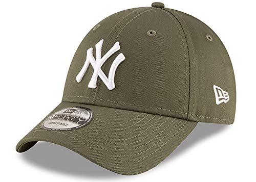 New Era New York Yankees - 9forty Adjustable Cap - League Essentials - Olive Med - One-Size