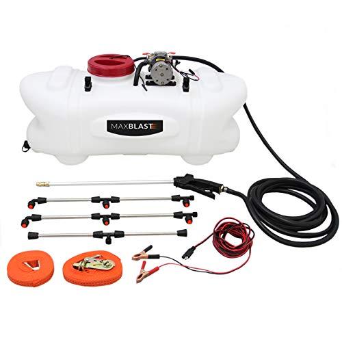MaxBlast 100L Pulverizador ATV Pulverizador de 12 Voltios con Barra y Accesorios Fertilizantes para Tractores Cuádruples Pesticidas Agrícolas