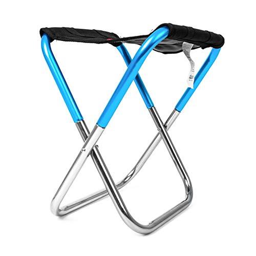 T-ara Suave y Confortable Asiento de aleación de aleación de Aluminio portátil y cómodas Multifuncional Ligera diseño de Moda (Color : Dark Blue)