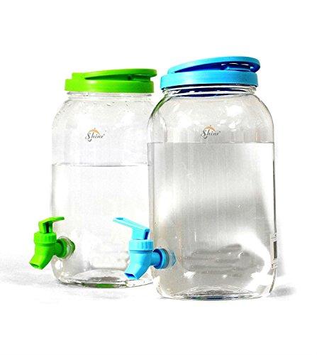 SHINE DOPPELGETRÄNKE Dispenser 8L-Glas Mason JAR Home Party Picnic Garten BAR B Q