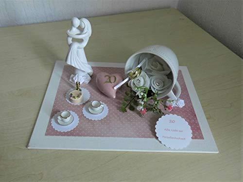 Porzellanhochzeit - Geldgeschenk - 20 Jahre Ehe