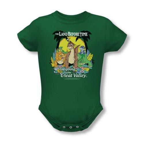 Land Before Time - - Enfant Grande Vallée Onesie En Vert Kelly, 6 Months, Kelly Green