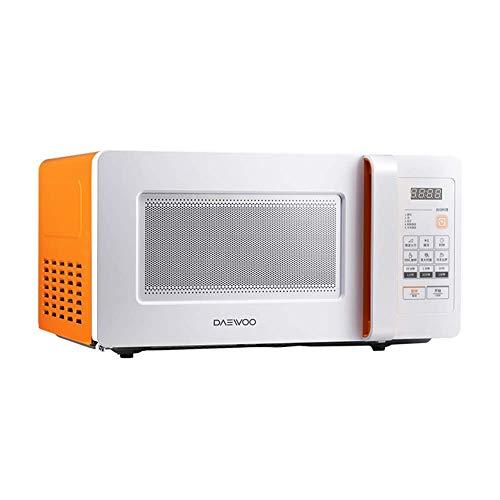 PLEASUR Horno microondas con cronómetro, Acero Inoxidable, 1000 vatios, 220 voltios, Naranja