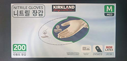 Kirkland Nitrile Exam Multi-Purpose Gloves 200 Count'Medium Size'