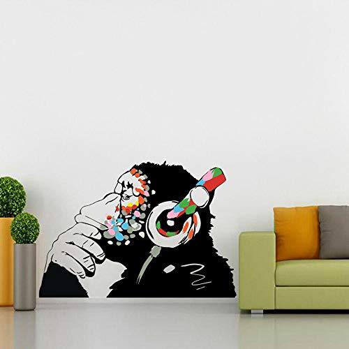 HUIHUI Pensando mono graffiti arte personalidad calcomanía etiqueta de la pared decoración WC365