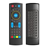 GOWELL - Mando a distancia Bluetooth específicamente compatible con Amazon Fire TV y Fire TV Stick Air Mouse Remote Mini teclado y aprendizaje IR funciona con Android TV Box Windows Raspberry Pi