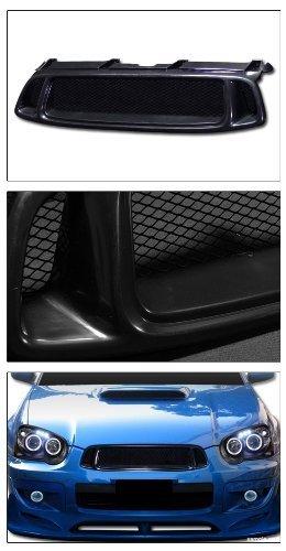 VXMOTOR for 2004-2005 Subaru Impreza WRX Sti Black Aluminum Mesh Front Hood Bumper Grill Grille