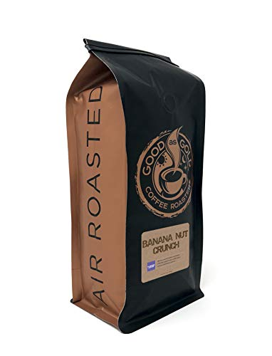 Banana Nut Crunch Coffee Beans, Flavored Coffee, Whole Bean, 12 Ounce Bag – Good As Gold Coffee Roasters