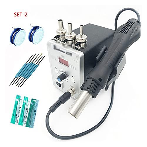 Arma de soldadura Nueva herramienta de aire caliente de tipo 858D Desoldering Reflow Soldador SMD110V /220V 700W Para herramientas de reparación de soldadura. Kit de soldadura de hierro para electróni