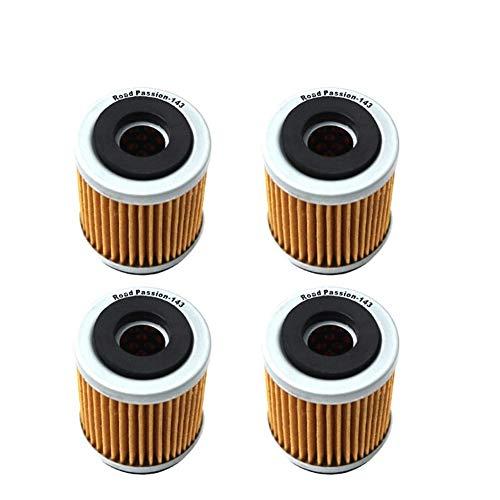 FUWANG Motorradölfilter Ölfilter for Yamaha AG200 TW200 TW125 TTR125LE TTR230 TTR225 YJ125 Vino XT225 Serow XT125 XT350 XT200 XT250T SR185 Ölfilter (Color : 4pcs)