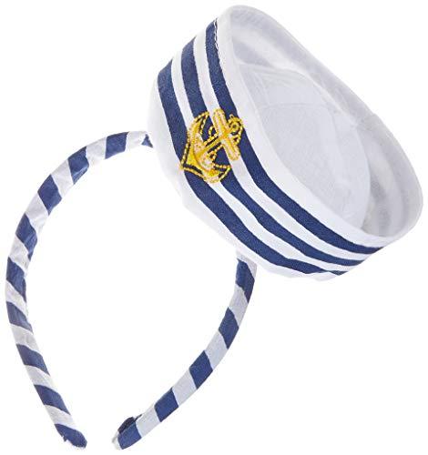 Boland 44356 - Tiara Navy Sailor, Haarreif, Matrose, Seemann, Seefahrer, Marine, Accessoire, Kopfbedeckung, Motto Party, Karneval