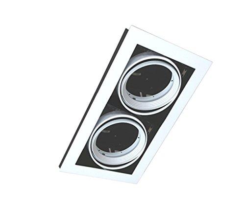 Silver Electronics Cardan para 2 Focos, Blanco, 35 x 20.5 x 10.8 cm
