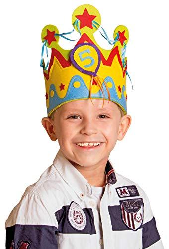Folat B.V. Corona de Cumpleaños Infantil para Niños con números Intercambiables de 1