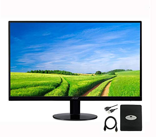 2020 Newest Acer 21.5' FHD LCD Ultra-Thin Zero Frame Monitor for Business and Student, 16: 9, IPS, 4ms Response Time, 75 Hertz, 16. 7 Million Colors, HDMI & VGA Port, w/Ghost Manta Accessories