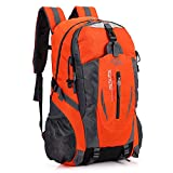 RatenKont Deportes al Aire Libre Bolsas para Acampar Mochilas Escolares Mochila Viaje 35-40L Senderismo Bolsa Nylon Impermeable Orange
