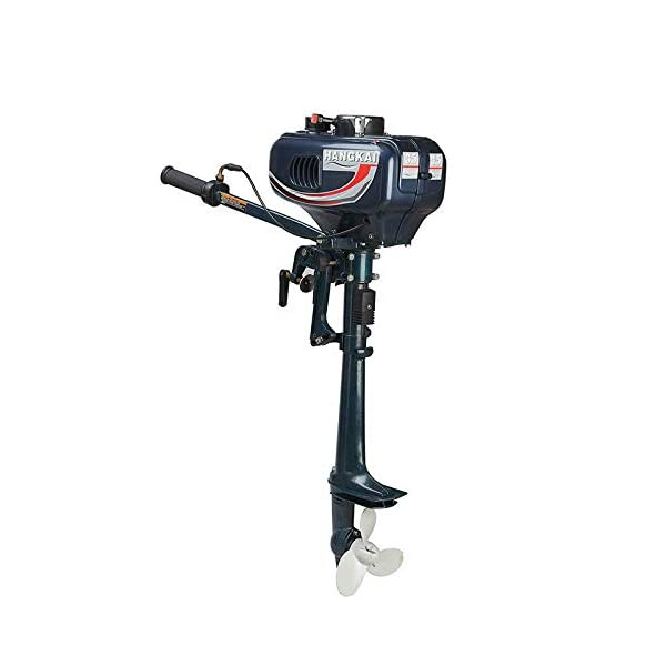MOMOJA Outboard Motor Engine Fishing Boat, 3.5HP 2 Stroke Gasoline Boat Engines Water Cooling CDI Control System