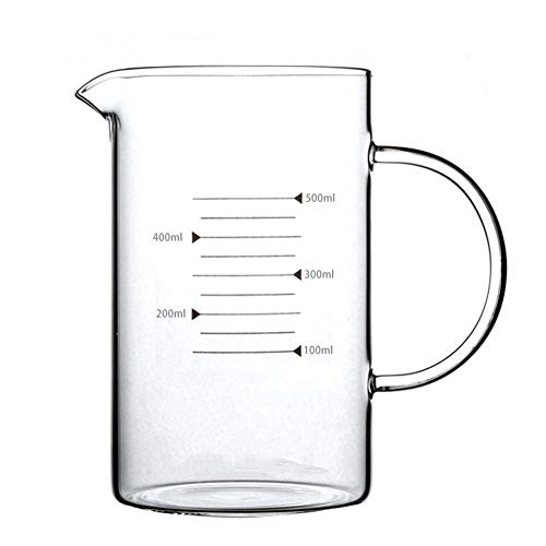 XIN NA RUI Pyrex Jug Glass With Scale Measuring Cup Transparent Glass Cups High Capacity High Temperature Resistant Milk Glass Juice Glass Fair (Color : 2)