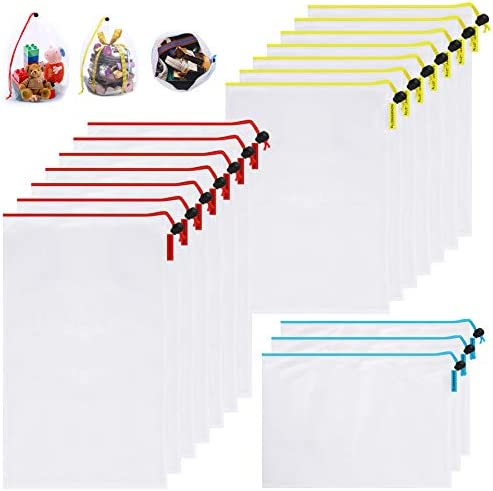 Mipruct Toy Storage Organization 15 Pack Reusable mesh Bags Multi Size Toy Organizers and Storage product image