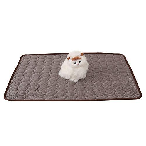 Szkn Alfombrilla de refrigeración impermeable para mascotas para verano perro gato perro verano, Café 40 x 30., tamaño único