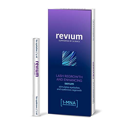 Revium Super Wimpers, groeiconditioner, tegen uitdunnen van wenkbrauwen, met 1-MNA, biotinylghk, provitamine B5, 11 ml