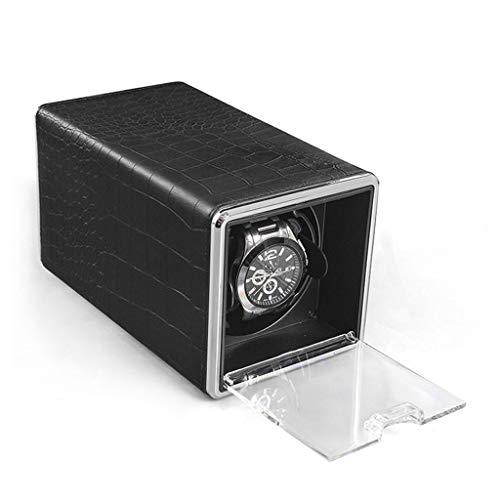 MZPWJD Cajas giratorias Cajas Giratorias para Relojes Automaticos, Watch Winder con 4 Tipos De Modos Funcionamiento Motor Silenciosa Y Hecho Madera (Color : A)