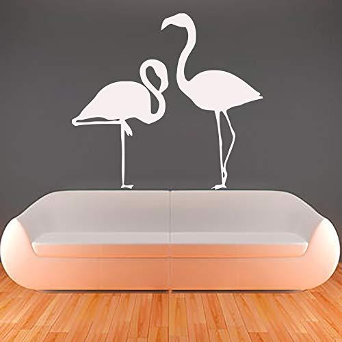 HNXDP Flamingo Wandtattoos Vinyl Abnehmbare Wohnzimmer Kunst Wanddekor Aufkleber Selbstklebende Wandaufkleber 44cmx49cm