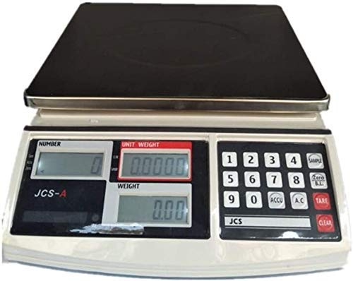FZYE Cocina electrónica Báscula de conteo multifunción Pesaje electrónico Comercial de Alta precisión con báscula Industrial LCD (Color: A, Tamaño: 15 kg / 0,5 g)