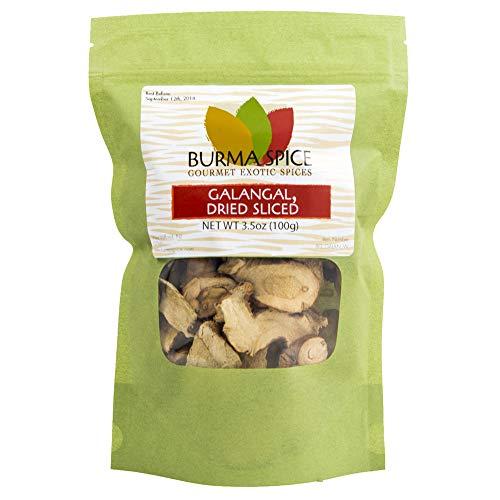 Dried Galangal, Sliced | Greater Galangal - Alpinia Galanga | Perfect for Tom Yum and Tom Kha Soups 3.5 oz.