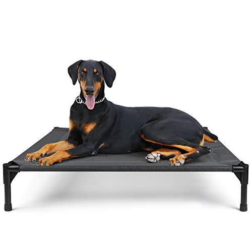 Elevated Dog Bed Raised Dog Bed Dog Cot Outdoor Dog Bed Large Cooling Pet Beds Dog Camping Bed 41 Inch Breathable Mesh Durable Frame