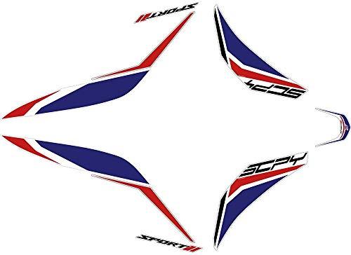 Cuerpo delantero calcomanía impermeable Motocicleta Pegatina Etiqueta Embalaje Embalaje Super Sticky Kit para Honda SH125 SH 125 Accesorio Pegatinas (Color : 1)