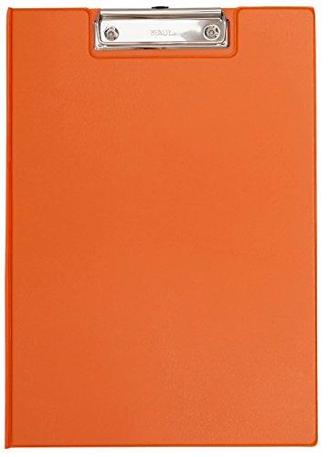 Maul Schreibmappe mit Folienüberzug, Aufklappbares Klemmbrett, Innentasche, Größe A4 hoch, Orange, 2339243, 1 Stück
