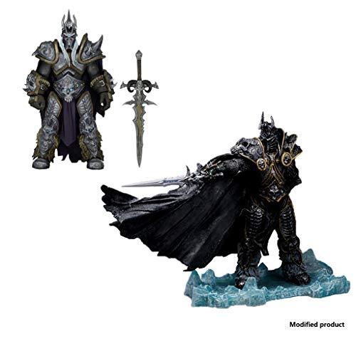 Siyushop Unbegrenzte Anzahl Von World of Warcraft-Figuren: Der Lichkönig: Arthas Menethil PVC-Figur Und Arthas Action-Figur (2 Teile)
