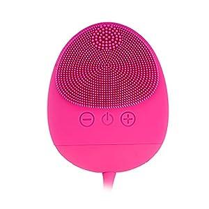 Dispositivo De Belleza Facial,Cepillo Facial de Silicona,Masajeador Facial Eléctrico, Impermeable, a Prueba de Golpes, Seguro, Fácil de Transportar, Adecuado para todo Tipo de Piel-CkeyiN …