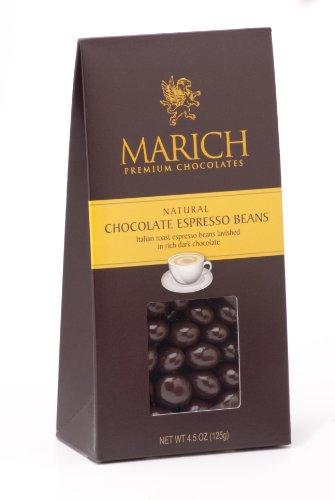 Marich Chocolate Espresso Beans, 4.5-Ounce