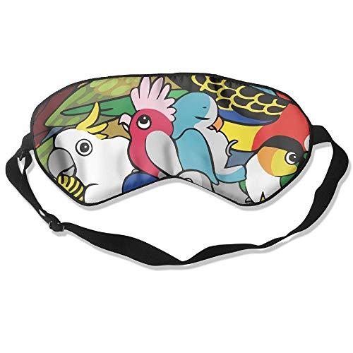 Soorten vogels Natuurlijke Zijde Slaap Masker Comfortabele Glad Blinddoek voor Reizen, Ontspannen