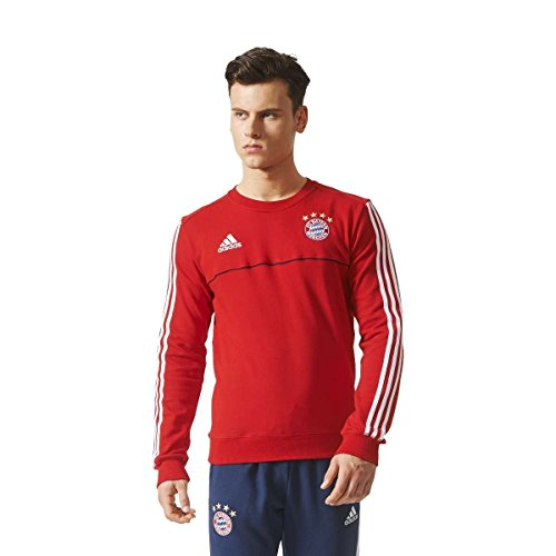 adidas Herren Fc Bayern München Sweatshirt, Fcbtru/White, S