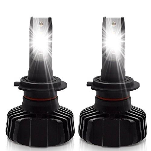 LncBoc H7 LED Phares Voiture Ampoules 90W 9000LM(4500LMx2) Seoul-CSP Super Brillant LED 6500K Lumière Blanche Ampoules Tout-en-un kit de Conversion DC 12V