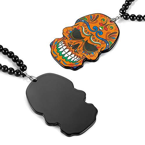 TUDUDU Colgante De Coche Flor Esqueleto Cráneo Totem