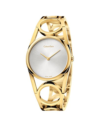 Calvin Klein Damen Digital Quarz Uhr mit Edelstahl Armband K5U2M546