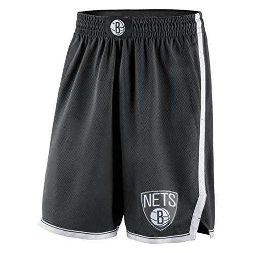ZCGS Pantalones Cortos de Baloncesto de los Hombres de Irving Durant, Irving Durant Sporting Shorts de Secado rápido Suave Transpirable Traje de baño Pantalones Cortos (S Black-XXL