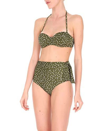 Adriana Degreas Mille Punti Hot Pants Bikini in Green (Small)